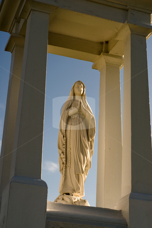 Religious Statue stock photo, Low angle view of a religious statue by Richard Nelson