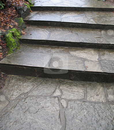 Old stone steps stock photo,  by Mbudley Mbudley