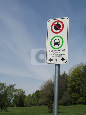No stopping sign stock photo,  by Mbudley Mbudley