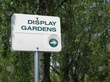 Display gardens sign stock photo,  by Mbudley Mbudley
