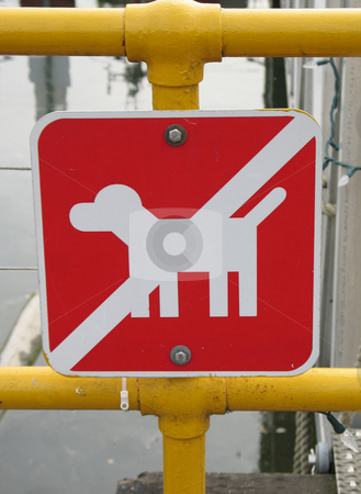 No dog sign stock photo,  by Mbudley Mbudley