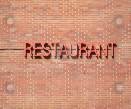 Restaurant sign stock photo,  by Mbudley Mbudley