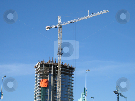 Large construction site stock photo,  by Mbudley Mbudley