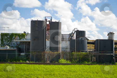 Old Tar Processing Plant stock photo, Old an weathered Tar Processing and storage plant by Robert Cabrera