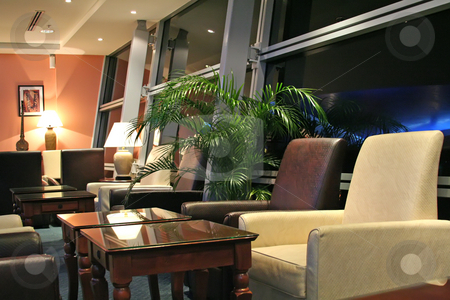 Airport lounge stock photo, Airport business class executive lounge at night by Kheng Guan Toh