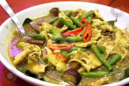 Thai green curry stock photo, Thai green curry traditional spicy asian cuisine by Kheng Guan Toh