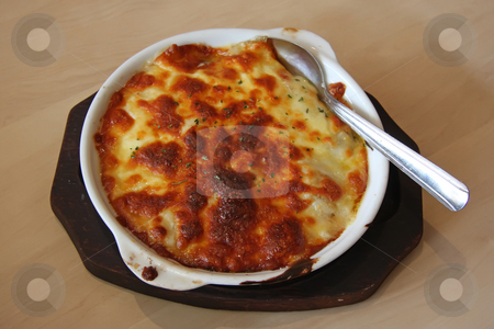 Baked scallops stock photo, Japanese baked scallops with cream sauce au gratin by Kheng Guan Toh