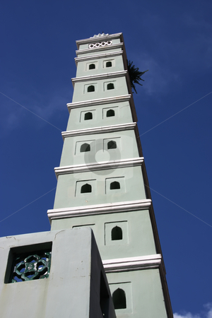 Mosque tower stock photo, Malay islamic mosque architectural detail tower spire by Kheng Guan Toh