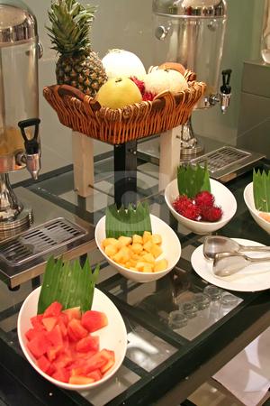 Fruit buffet stock photo, Assorted fruits in a restaurant buffet presentation by Kheng Guan Toh
