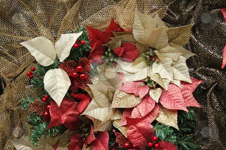 Golden christmas stock photo, Gold autumn themed christmas festive ornamental decorations by Kheng Guan Toh