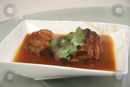 Chinese stewed pork stock photo, Stewed pork with gravy traditional chinese cuisine by Kheng Guan Toh