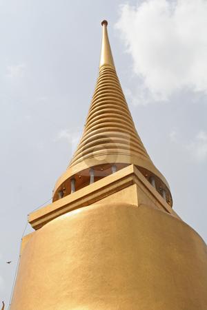 Emerald buddha temple stock photo, Architecture detail in the Emerald buddha temple in Bangkok Thailand by Kheng Guan Toh