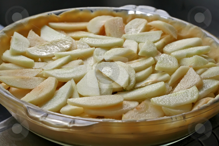 Sliced apples stock photo, Fresh sliced apples cooking ingredient filling for pie by Kheng Guan Toh