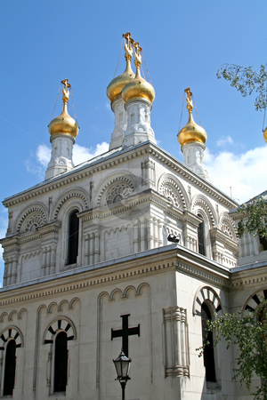 Russian Orthodox church stock photo, Russian Eastern orthodox church in Geneva Switzerland by Kheng Guan Toh