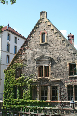 Old house stock photo, Traditional old house Geneva old quarter Switzerland by Kheng Guan Toh