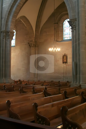 Cathedral interior stock photo, Interior of the St. Peter's cathedral in Geneva, Switzerland by Kheng Guan Toh