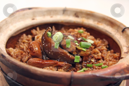 Claypot rice stock photo, Chicken claypot rice traditional chinese cuisinie by Kheng Guan Toh