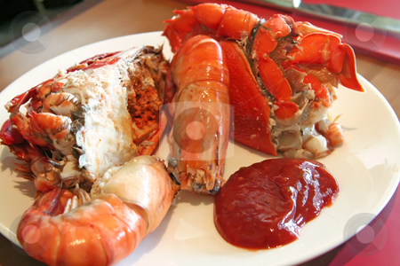 Fresh seafood stock photo, Assorted fresh cooked seafood prawns and crabs by Kheng Guan Toh