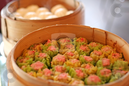Traditional chinese cuisine stock photo, Steamed dumpling dim sum, Traditional chinese cuisine by Kheng Guan Toh