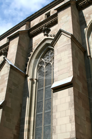 Cathedral window stock photo, Window detail of St Peter's cathedral in Geneva, Swtizerland by Kheng Guan Toh