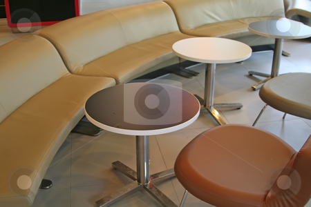Modern cafe stock photo, Casual trendy modern cafe tables and chairs by Kheng Guan Toh