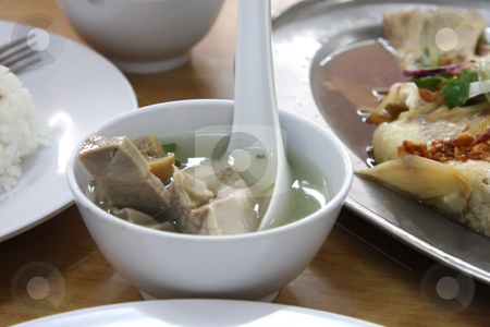Pork soup stock photo, Pork pepper soup in bowl traditional chinese cuisine by Kheng Guan Toh