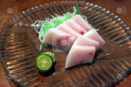 Blue marlin sashimi stock photo, Blue marlin sashimi cut and prepared in japanese restaurant by Kheng Guan Toh