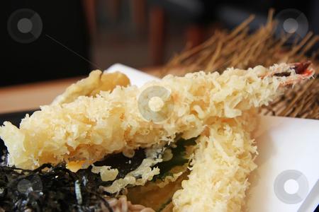 Tempura prawns stock photo, Tempura fried prawns traditional japanese cusine seafood dish by Kheng Guan Toh