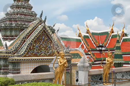 Emerald buddha temple stock photo, Guardian statues in Emerald buddha temple in Bangkok thailand by Kheng Guan Toh