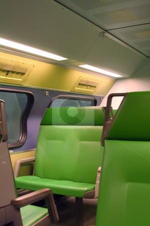 Passenger train stock photo, Interior of a passenger train dutch commuter by Kheng Guan Toh
