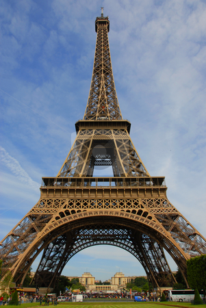 Eiffel tower stock photo, View of the eiffel tower in Paris, France by Bonzami Emmanuelle