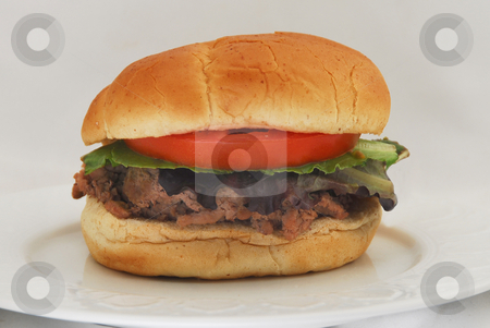 Turkey Burger stock photo,  by Timothy OLeary