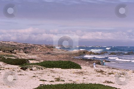 California Coastline stock photo, Beautiful california coastline and beach under wintery sky by Joseph Ligori