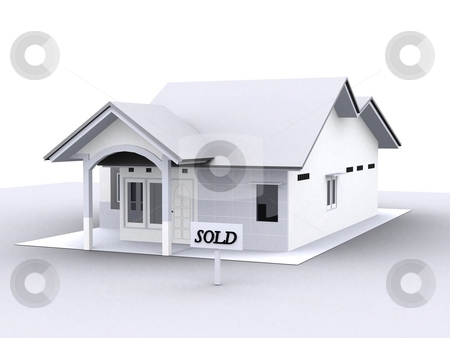 The House stock photo, The image that contains a picture of house that have been sold with all minimalist colours by Verdiansyah ST