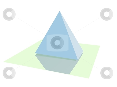 The pyramid stock photo, The image or object which contains a pyramid with blue colour hanging on the flat mirror by Verdiansyah ST