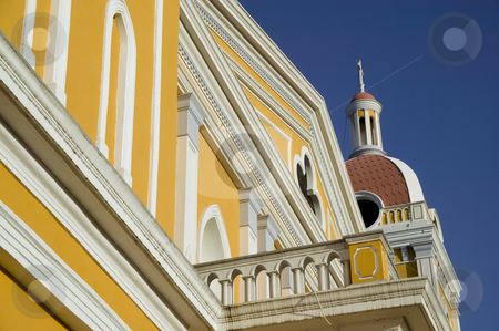 Detail of the Cathedral de Granada Nicaragua stock photo, Architectural detail from the yellow cathedral in central Granada Nicaragua by Scott Griessel