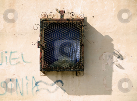 Outdoor Nicaraguan Architectural Detail stock photo, Detail on an exterior wall in Granada, Nicaragua by Scott Griessel