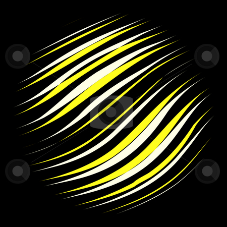 Abstract sun stock photo, Circle in yellow and white lines on black background by Wino Evertz