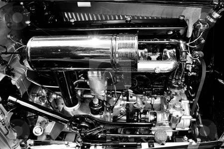 Rolls Royc Phantom I engine stock photo, Rolls Royce Phanom I engine by Tim Doubrava