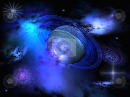Blue galaxy stock photo,  by Annika Str?