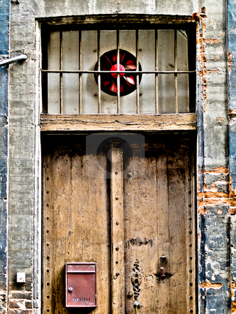 Vintage door stock photo, Vintage door in the street of Toulouse in France HDR processed by Laurent Dambies