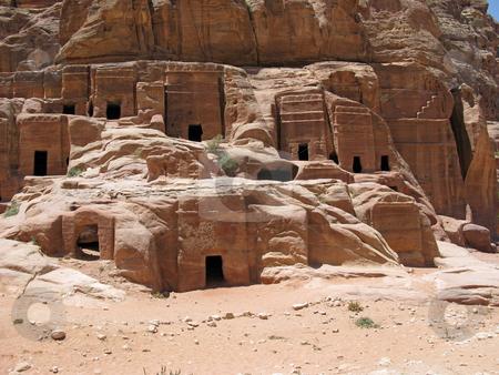 Ruins of Necropolis in Petra stock photo, Ruins of Necropolis, Petra, Jordan, Middle east by Roman Vintonyak