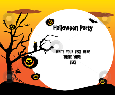 Halloween party stock vector clipart,  by R. B.
