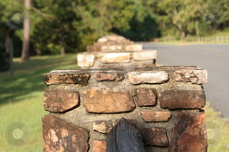 Stone Fence stock photo, Old stone wall by George Botta