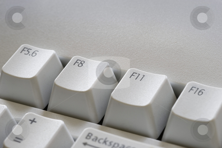 Digital photography stock photo, Function keys with camera F-stop settings for optimum focus, symbolic of digital photography by Stephen Gibson