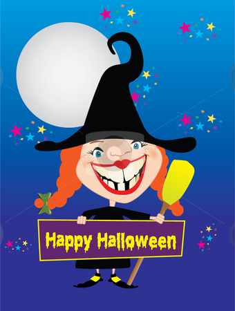 Happy Halloween stock vector clipart,  by R. B.