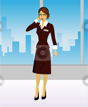 Customer Service Representative stock vector clipart,  by R. B.