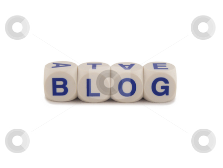 Web Log Blog stock photo, Blog in blocks isolated on a white background by Adrian Mace