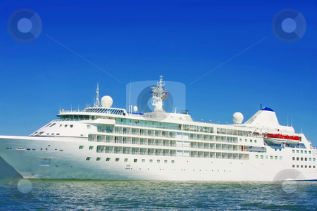 Cruise ship stock photo, Caribbean cruise ship by Arve Bettum
