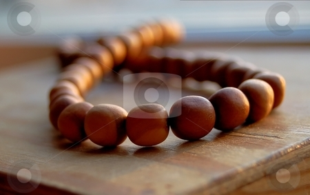 Wooden Pearls stock photo, Wooden pearls can be as beautyful as real pearls by Lars Kastilan